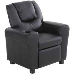 Relaxfauteuil voor kinderen Rex - zwart
