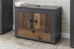 Wastafelonderkast Rutger 3 deuren - hout/grafiet