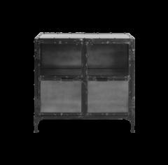 Vitrinekastje Brooklyn - ijzer / glas - Natural Steel