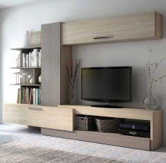 Tv-meubel Lyric 270cm - eik/beton