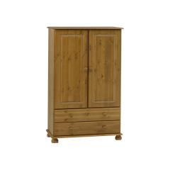 Kledingkast Ramund laag 2 deuren & 2 lades - bruin