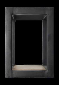 Wandbox Levels - 20x20 cm - mangohout / ijzer