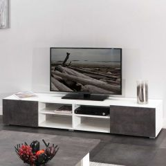 Tv-meubel Podium 185 cm - wit/beton