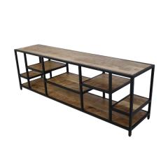 TV meubel Levels 170cm - mangohout/ijzer