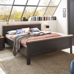 Bed Jacco 180x200 - grafiet/eik
