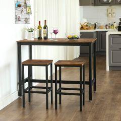 Barset Isolde 120x60 industrieel - bruin/zwart