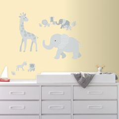 Muurstickers Baby Safari Animals