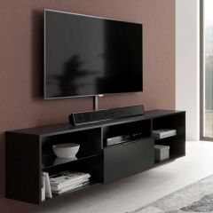 Tv-meubel Damien 140cm - zwart