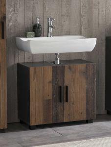 Wastafelonderkast Casa - hout/grafiet
