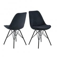 Set van 2 stoelen Erin - antraciet