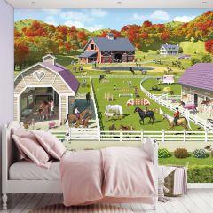 Kinderbehang Paarden- en Ponystallen