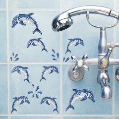 Stickers Dolphins mozaïek