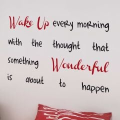 Muursticker Wake Up