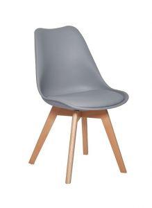 Set van 4 stoelen Malmo - grijs