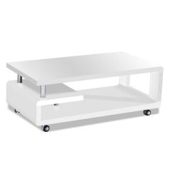 Salontafel Hakim 115x60 - hoogglans wit