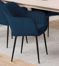 Armstoel Hermeline - donkerblauw/zwart