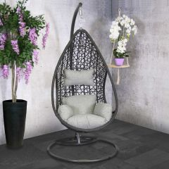 Hangstoel Melina - zwart