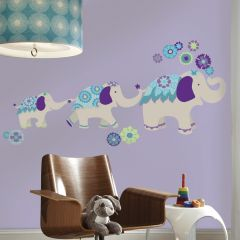 RoomMates muurstickers - Waverly Olifant (blauw/paars)