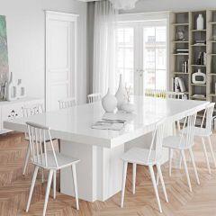 Eettafel Dusk 130x260 - wit
