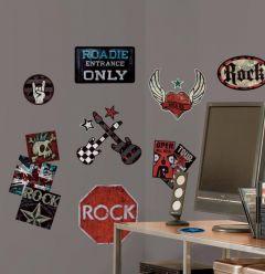 RoomMates muurstickers - Rock 'n roll voor jongens