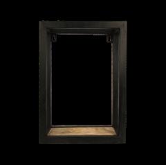 Wandbox Levels - 25x35 cm - mangohout / ijzer