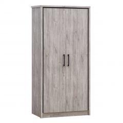 Kledingkast Sela 100cm met 2 deuren - grijze eik