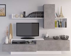 Tv-meubel Cosmit 240cm - beton/wit