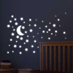 Muurstickers Super Stars Glow in the dark