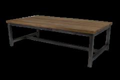 Salontafel - 120x60 cm - naturel / zwart - teak / ijzer