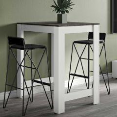 Bartafel Parnal 80x70 - wit/beton