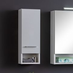 Hangkast Ricca 25cm 1 deur - wit/lichtgrijs
