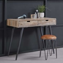 Make-uptafel/bureau Teca 90cm - teak