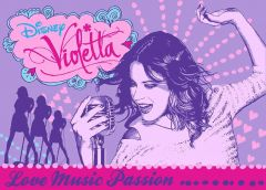 Tapijt Violetta - Love music