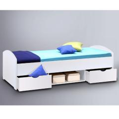 Bed Nero 90x200 met 2 lades - wit