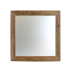 Wandspiegel Rustiek - 100x100 cm - drijfhout teak
