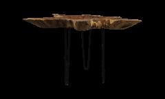 Salontafel - ±70-80 cm - teak wortelhout / ijzer