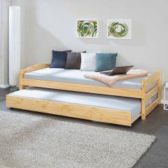 Bed met onderbed Valgren 90x200 - natuur