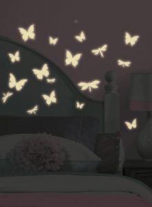 RoomMates muurstickers - Vlinders & Libelles Glow in the dark