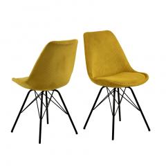 Set van 2 stoelen Erin - geel