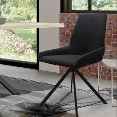 Set van 2 stoelen Rufus - zwart