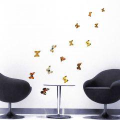 Muurstickers Colorful Butterflies