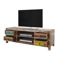 Tv-meubel Banksy 156cm met 4 lades - bruin