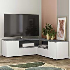 Tv-meubel Cleo 130cm - wit/beton