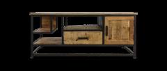 TV meubel 130cm - mangohout / ijzer