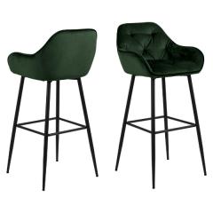 Set van 2 barstoelen Bridget - groen/zwart