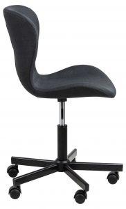 Bureaustoel Tilda - antraciet/zwart