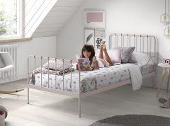 Metalen Bed Alice 90x200 - roze