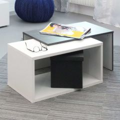 Salontafel Box - wit/beton