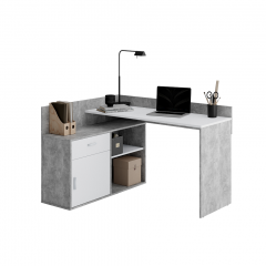 Hoekbureau Pjotr - beton/wit
