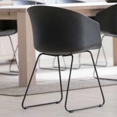 Set van 2 stoelen Anouck - zwart